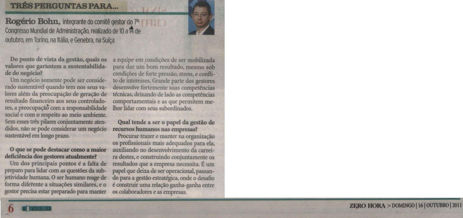 Entrevista com Rogério de Moraes Bohn, vice-presidente de Relações Externas do CRA-RS
