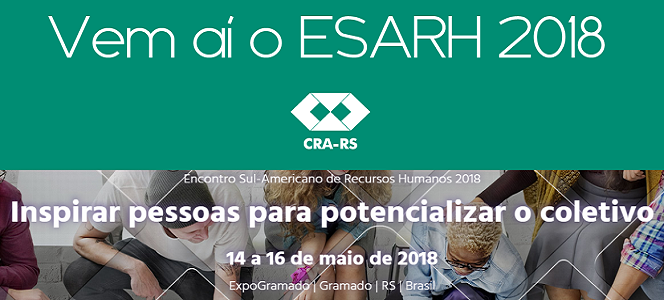 ESARH acontece no dia 14 de maio