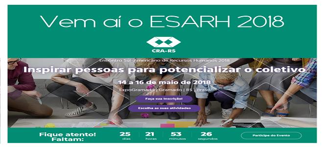 CRA-RS participa do ESARH com estande interativo