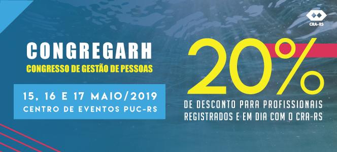 Registrados no CRA-RS têm 20% de desconto para participar do CONGREGARH