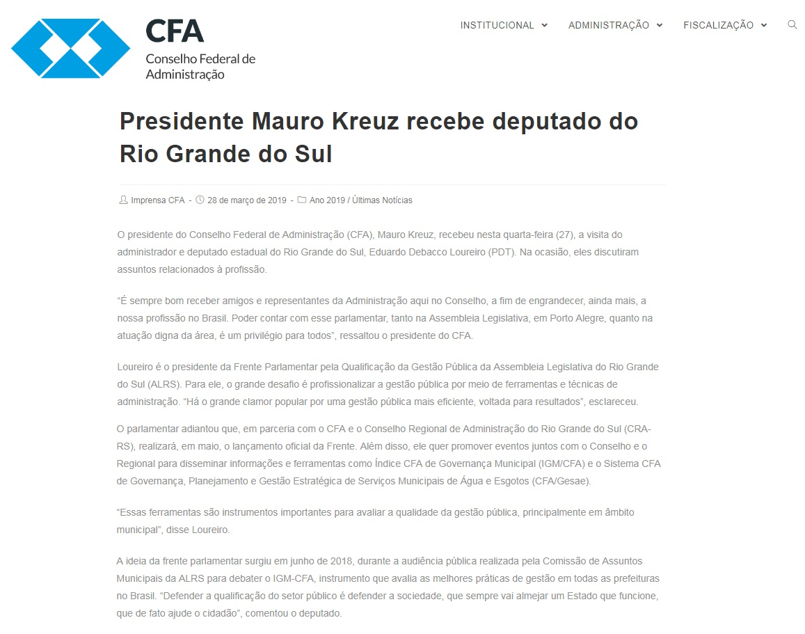Reunião Presidente CFA
