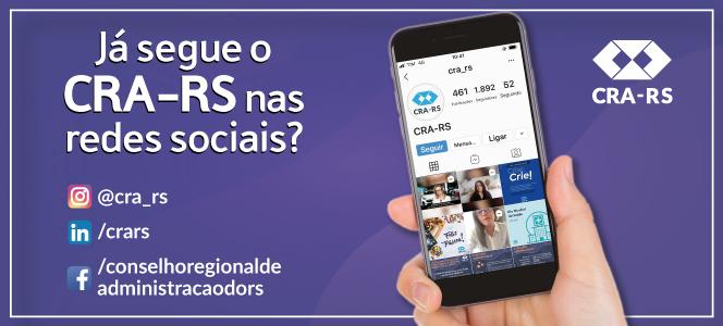Siga o CRA-RS nas redes sociais