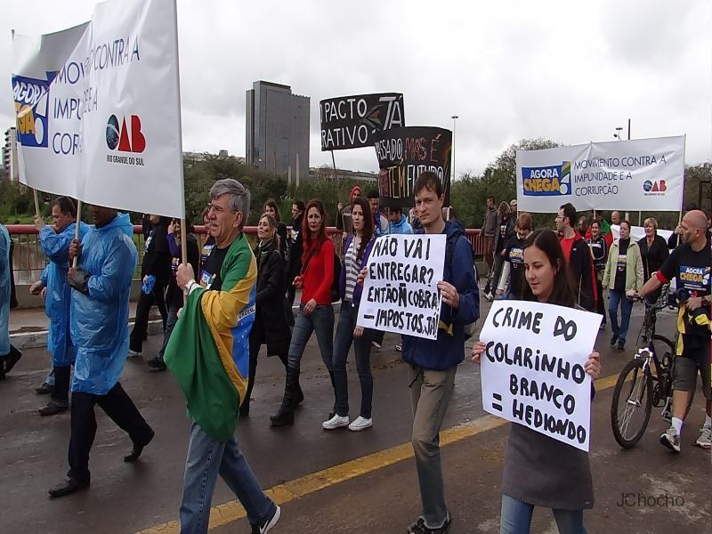 Movimento Agora Chega: Marcha Democrática contra a impunidade e a corrupção
