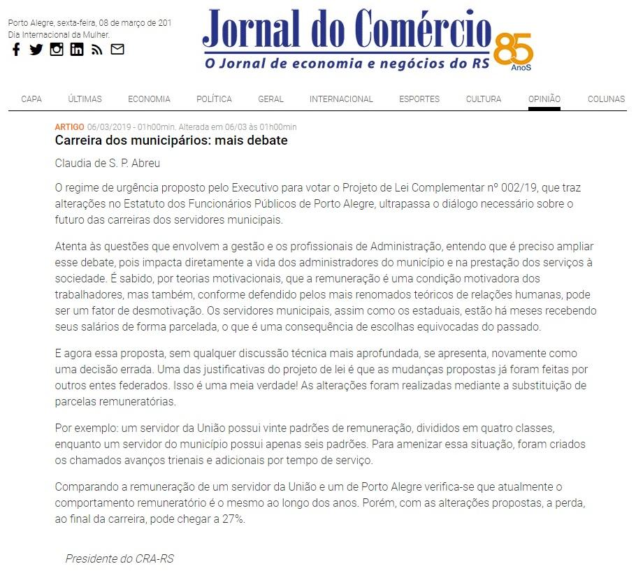 Artigo de Cláudia-Carreira