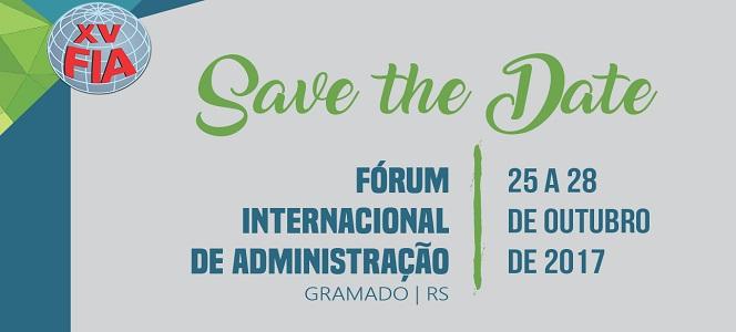 Menos de duas semanas para o XV Fórum Internacional de Administração