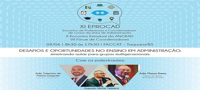 Inscreva-se no XI EPROCAD: Vamos refletir sobre desafios e oportunidades no ensino da Administração?
