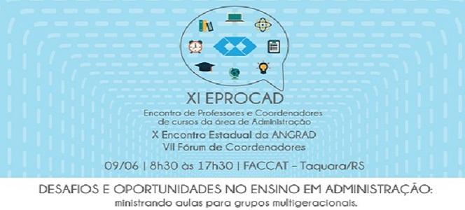 XI EPROCAD acontece neste sábado (09/06)