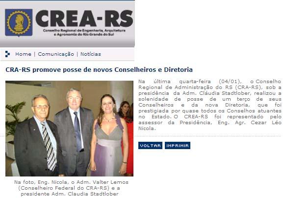 Nova Diretoria CRA-RS